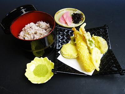 そば打ち体験追加メニュー-天ぷらセット